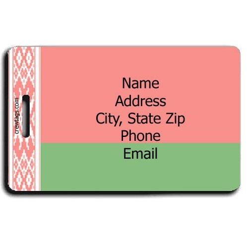 BELARUS FLAG PERSONALIZED LUGGAGE TAG