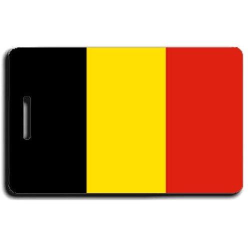 BELGIUM FLAG LUGGAGE TAG