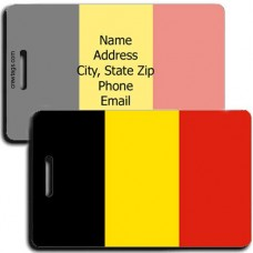 BELGIUM FLAG LUGGAGE TAGS