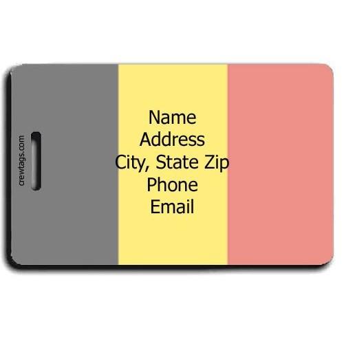 PERSONALIZED BELGIUM FLAG LUGGAGE TAG