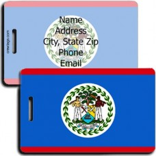 BELIZE FLAG LUGGAGE TAGS