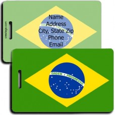 BRAZIL PERSONALIZED FLAG LUGGAGE TAG