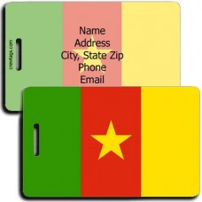 CAMEROON FLAG LUGGAGE TAGS