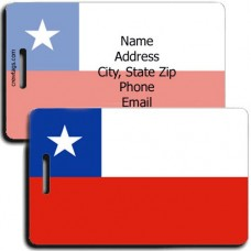 CHILE FLAG LUGGAGE TAGS