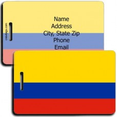 COLOMBIA FLAG LUGGAGE TAGS