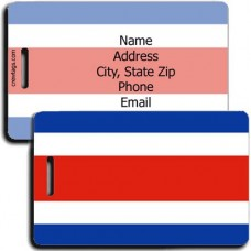 COSTA RICA FLAG LUGGAGE TAGS