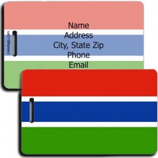 GAMBIA PERSONALIZED FLAG LUGGAGE TAGS