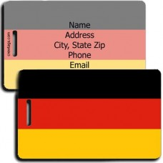 GERMANY PERSONALIZED FLAG LUGGAGE TAG