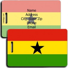 GHANA PERSONALIZED FLAG LUGGAGE TAG