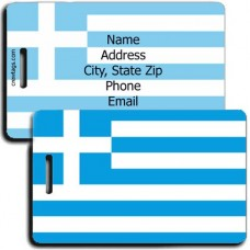 GREECE FLAG PERSONALIZED LUGGAGE TAG