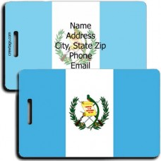GUATAMALA PERSONALIZED FLAG LUGGAGE TAG