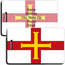 GUERNSEY FLAG LUGGAGE TAG