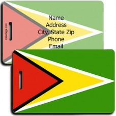 GUYANA PERSONALIZED FLAG LUGGAGE TAG