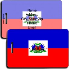 HAITI PERSONALIZED FLAG LUGGAGE TAG