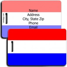 HOLLAND FLAG PERSONALIZED LUGGAGE TAG