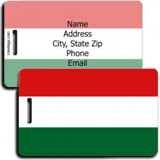 HUNGARY PERSONALIZED FLAG LUGGAGE TAGS