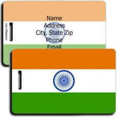INDIA PERSONALIZED FLAG LUGGAGE TAG