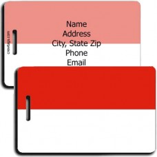 INDONESIA PERSONALIZED FLAG LUGGAGE TAG