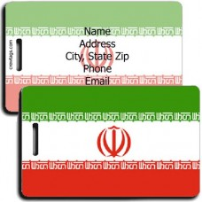 IRAN PERSONALIZED FLAG LUGGAGE TAG