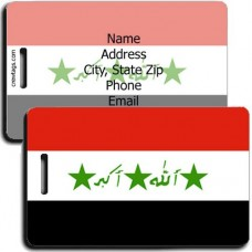 IRAQ PERSONALIZED FLAG LUGGAGE TAG