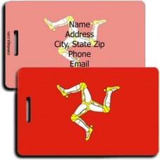 ISLE OF MAN FLAG LUGGAGE TAGS