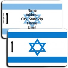 ISRAEL FLAG LUGGAGE TAGS