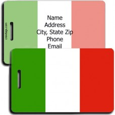 ITALY PERSONALIZED FLAG LUGGAGE TAG