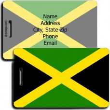 JAMAICA PERSONALIZED FLAG LUGGAGE TAG