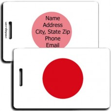 JAPAN FLAG LUGGAGE TAGS