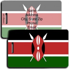 KENYA FLAG LUGGAGE TAGS