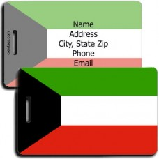 KUWAIT FLAG PERSONALIZED LUGGAGE TAG