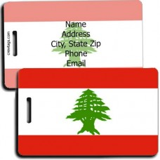 LEBANON PERSONALIZED FLAG LUGGAGE TAG
