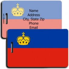 LIECHTENSTEIN PERSONALIZED FLAG LUGGAGE TAG