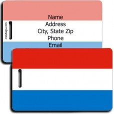 LUXEMBOURG PERSONALIZED FLAG LUGGAGE TAG