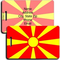 MACEDONIA PERSONALIZED FLAG LUGGAGE TAG