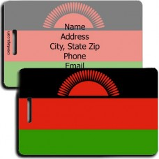 MALAWAI FLAG LUGGAGE TAG