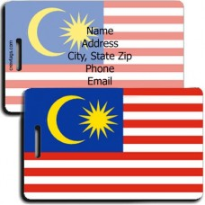 MALAYSIA PERSONALIZED FLAG LUGGAGE TAG