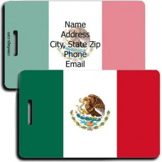MEXICO PERSONALIZED FLAG LUGGAGE TAG