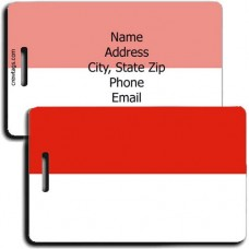 MONACO PERSONALIZED FLAG LUGGAGE TAG