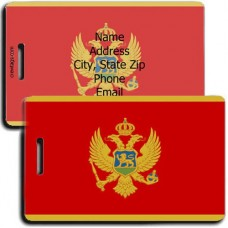 MONTENEGRO PERSONALIZED FLAG LUGGAGE TAG