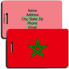 MOROCCO PERSONALIZED FLAG LUGGAGE TAG
