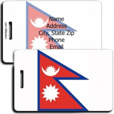 NEPAL PERSONALIZED FLAG LUGGAGE TAG