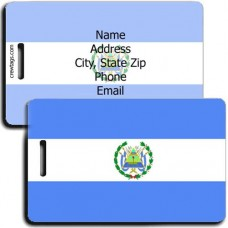 NICARAGUA PERSONALIZED FLAG LUGGAGE TAG