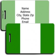 NIGERIA FLAG PERSONALIZED LUGGAGE TAG