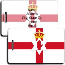 NORTHERN IRELAND FLAG LUGGAGE TAG