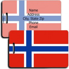 NORWAY PERSONALIZED FLAG LUGGAGE TAG