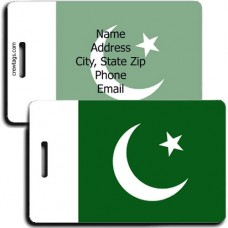 PAKISTAN PERSONALIZED FLAG LUGGAGE TAG
