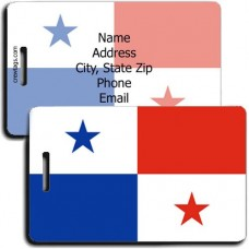 PANAMA PERSONALIZED FLAG LUGGAGE TAG
