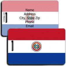 PARAGUAY PERSONALIZED FLAG LUGGAGE TAG