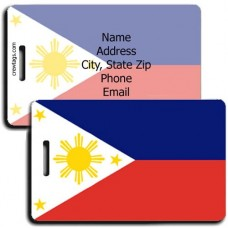 PHILIPPINES PERSONALIZED FLAG LUGGAGE TAG